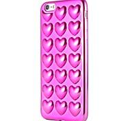 Случай для яблока iphone 7 плюс iphone 7 покрытие покрывая модель задняя крышка случая сердце мягкое tpu для iphone 6s плюс iphone 6 плюс