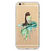 Чехол для iphone 7 плюс 7 крышка прозрачный узор задняя крышка чехол мультяшная русалка мягкая tpu для яблока iphone 6s плюс 6 плюс 6s 6