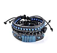 Муж. Жен. Кожаные браслеты Бижутерия Базовый дизайн Богемия Стиль Регулируется Гипоаллергенный Ручная работа Классика бижутерия Кожа