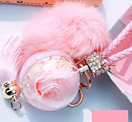 Сумка / телефон / брелок шарм кристалл / горный хрусталь стиль кисточка мультфильм игрушка мех мяч телефон ремешок искусственный мех