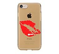 Случай для iphone 7 6 сексуальная повелительница губы tpu мягкая ультратонкая задняя крышка случая крышки iphone 7 плюс 6 6s плюс se 5s 5