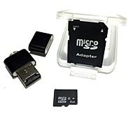 Карта памяти microSDhc tf 4 ГБ с USB-кард-ридером и sdhc sd-адаптером