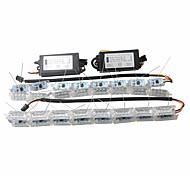 Ziqiao 2x автомобиль гибкий белый / янтарный выключатель светодиодный фонарик для наездника на дальнем свете для последовательного