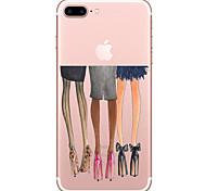 Для apple iphone 7 7 плюс чехол на высоком каблуке с рисунком с высоким проникновением tpu материал мягкий чехол для телефона для iphone