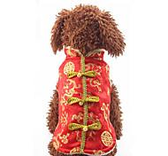 Собака Жилет Одежда для собак На каждый день Новый год Вышивка