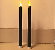 2шт 11tall классические мерцающие беспламенные светодиодные свечи под свечи с батарейным питанием привели свечи
