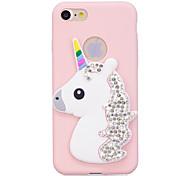 Случай для iphone 7 7plus случай крышка rhinestone радуга unicorn стерео картина конфеты tpu материал телефон случай для iphone 6s 6 6plus