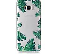 Кейс для samsung galaxy s8 s8 плюс кейс крышка зеленый листья образец чувство лак рельеф высокое проникновение материал tpu телефон корпус