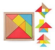 Пазлы Деревянные пазлы Строительные блоки Игрушки своими руками Квадратный Треугольник 3D