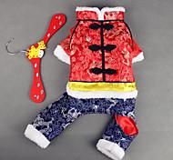 Собака Комбинезоны Одежда для собак Новый год Вышивка