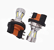 2x мини-дизайн супер яркий h15 светодиодный фонарик лампы h15 высокий низкий луч / светодиодная функция drl подходит для vw audi bmw ford