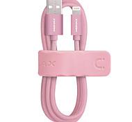 mfi сертифицированный momax кабель молнии 1m 2.4a быстрая зарядка тканая оплетка молнии к USB-кабелю для iphone ipad ipod 5 / 5s / 6 / 6s