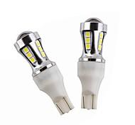 2x новая конструкция 18w 1800lm t10 светодиодная ширина свет водить свет для чтения t15 led back back-up светлый белый цвет