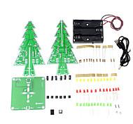 3D Рождественская елка привело учебный комплект красочный свет DIY электронный набор для украшения / подарок / дисплей