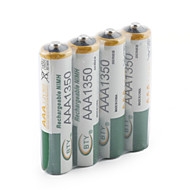 4 Piles Rechargeables 1350mAh BTY Ni-MH AAA 1.2V