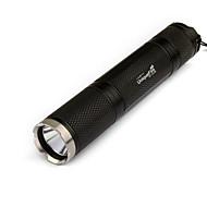 LED-Ficklampor / Ficklampor LED 3 Läge 1000 Lumen Laddningsbar / Taktisk / självförsvar Cree XM-L T6 18650 Svart Aluminiumlegering
