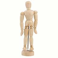 """houten 14-joint verplaatsbare pop model met display base (5,5 """")"""