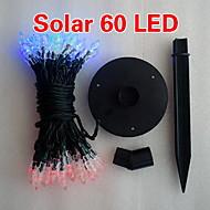 Solar 2m 60 liderada luz colorida Natal lâmpada cadeia