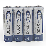 1.2V 2700mAh Rechargeable AA Ni-MH Battery