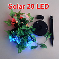 solar 2m 20-led kolorowy motyl lekka konstrukcja lampy łańcuch na Boże Narodzenie