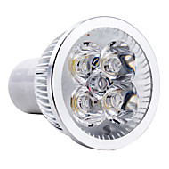 3W GU10 Focos LED MR16 4 LED de Alta Potencia 150 lm Blanco Natural AC 85-265 V