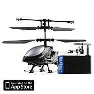 3 canales i-helicóptero de 777-172 con giro controlado por iPhone / iPad / iPod Touch negro (777-172b)