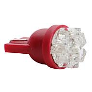 T5 3528 smd 0.6W 12V 27lm 9-LED punainen valo auton lamppu (10kpl)