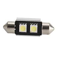 CANBUS Festoon 36mm 0.5W 2x5050 SMD White LED Car Signal Light