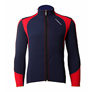 jaggad polyester 50% et 50% coolmax cyclisme manches veste longue (noir et rouge)