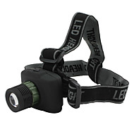 LED Flashlights / Headlamps LED 3 Mode 240 Lumens Tactical / Compact Size / Small Size Cree XR-E Q5 AAA Others , Black Plastic