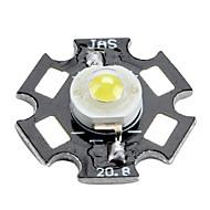 Epistar 6000-6500K 1W 100-110lm 350mAh valkoista led lamppu alumiinilevy (3,0-3,4 V)