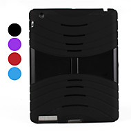 Silicone Assembled Case with Stand for iPad 2/3/4 (Assorted Colors)