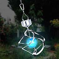 Solar LED Cambia Colore Saturno Spinner vento Hanging Light spirale