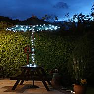 Solar 60-LED a luce bianca luminarie esterne di Natale Decorazione Lampade