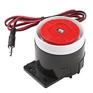 120dB Loud Security Alarm Siren Horn Speaker Buzzer (Black & Red, 6~16V)