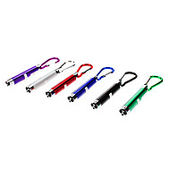 2-in-1 Red Laser + White Light Mini Flashlight Keychain (3xLR44, Random Color)