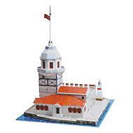 Jigsaw Puzzles 3D Puzzles Building Blocks DIY Toys Castle Paper Red / White Model & Building Toy
