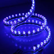 Waterproof 120cm 120-LED blauw LED strip licht voor in de auto (12V)