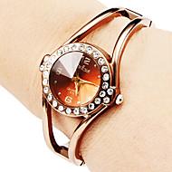 Dames Modieus horloge Armbandhorloge Kwarts Legering Band Glitter Bangle armband Elegante horloges Brons