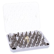 DIY Cake Decoration Stainless Steel Flower Making Nozzles Set (52-Pack)