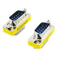 20564 Seriële RS232 DB9 9-Pin Male naar Male Adapters (Zilver & Geel, 2 PCS)