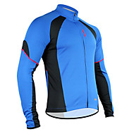 SANTIC Bike/Cycling Jacket / Jersey / Tops Men's Long Sleeve Breathable / Moisture Permeability / Quick Dry / Sweat-wicking Polyester