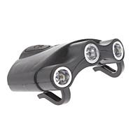 Plastique noir ultra-léger 3 Lampe frontale LED pour la pêche de nuit / Randonnée / Camping / Chasse / Vélo