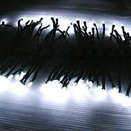Solar Powered 12M 100-LED White Light Flashing String Lamp