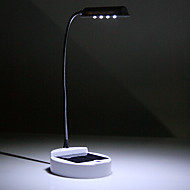 vit sol ledde skrivbordslampa flexibla tabellen läslampa usb powered
