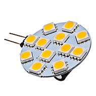 G4 1.5 W 12 SMD 5050 70 LM Warm White Spot Lights DC 12 V