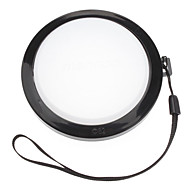 MENNON 82mm Camera White Balance Lens Cap Cover with Hand Strap (Black & White)