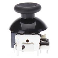 Repuesto 3D Cap joystick Rocker Shell prolifera rápidamente los casquillos para XBOX360 controlador inalámbrico (Negro)