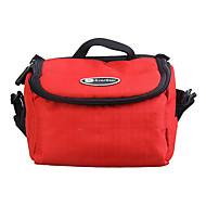 Ripstop polyester Vadderad mjuk skyddande bärväska Fodral för Digitala Kameror Large - Röd