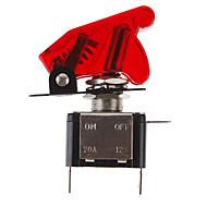DIY Red LED Illuminated Przełącz przełącznik ON / OFF w samochodzie (12V 20A)